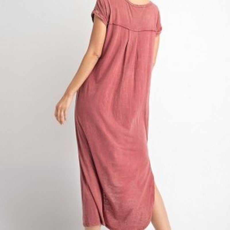 The CURVY Rica Maxi in Burgundy