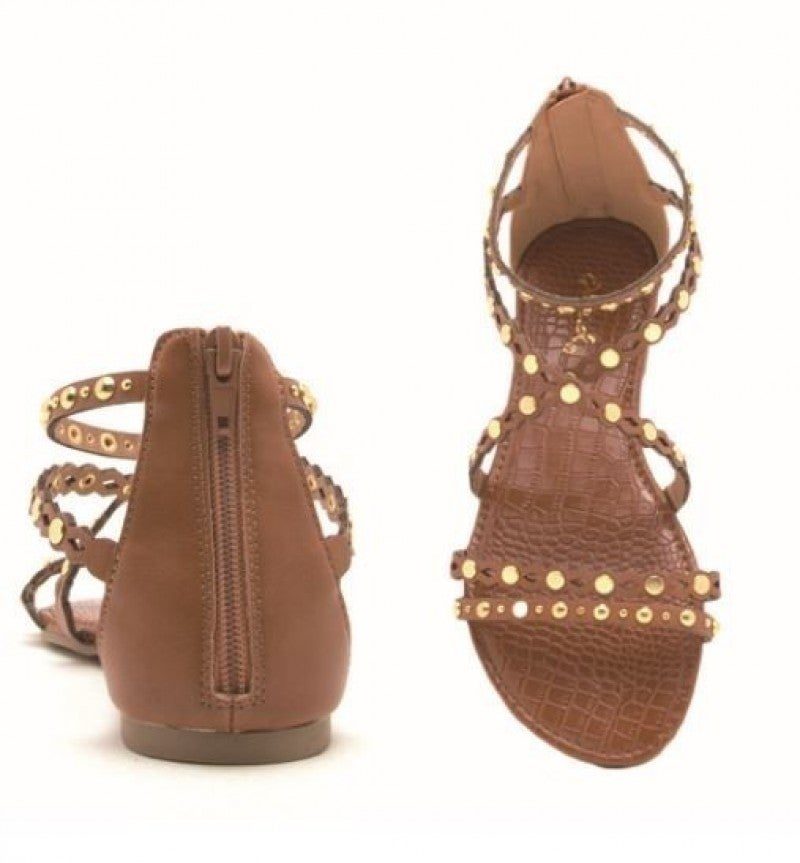 The Studded Camel Sandals