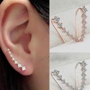 CZ Climber Earrings