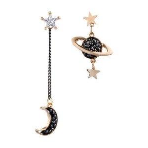 Asymmetrical Astronomy Earrings