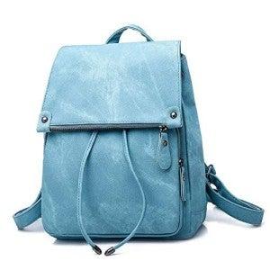 Sky Blue Water-Resistant Backpack