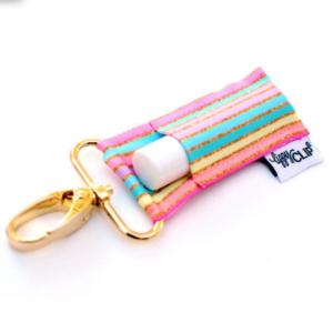 LippyClip Lip Balm Holder - Pastel & Gold Stripe