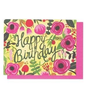 Happy Birthday Floral - Card
