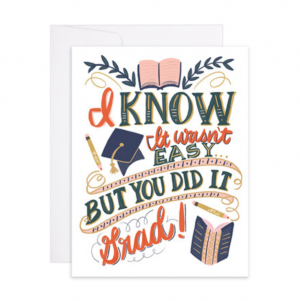 You Did It Graduation Letterpress Gold Foil Card