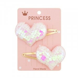 Sequin Heart Hair Clip - 2 Pack