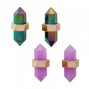 Crystal Point - Stud Earrings
