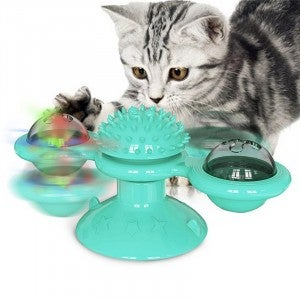 Whirl-a-majig with Brush - Cat Toy