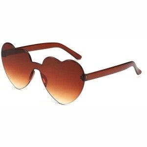 Summer Stunners - Heart-shape Rimless Sunglasses