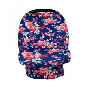 Navy Floral - Nursing/Carseat Cover