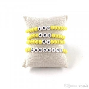 You Are My Sunshine - 4pc Bracelet Stack