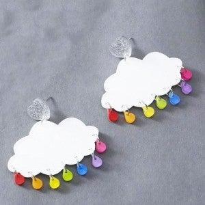 Rainbow Raindrop Earrings