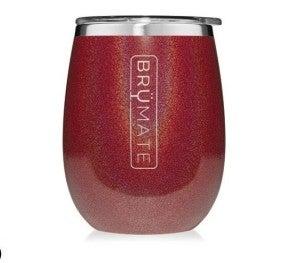 BrüMate 14oz Wine Tumbler  - Glitter Ruby