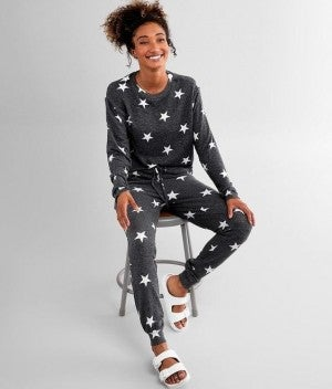 Charcoal Stars - Super Soft Lounge Set