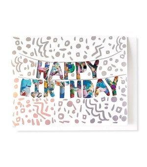 Happy Birthday Balloons - Confetti Card