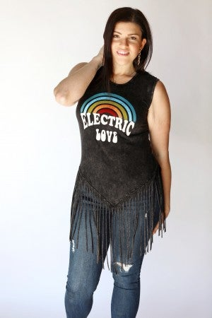 Electric Love Fringe Tank Top