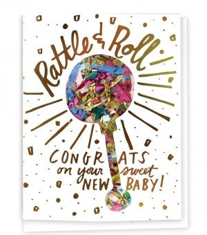 Rattle & Roll - Confetti Card