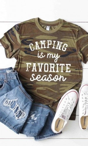 Camping Is My Favorite Season Graphic Tee