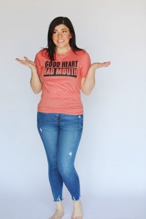 Good Heart Bad Mouth Graphic Tee