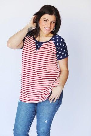 Team USA Stars & Stripes Tunic Top