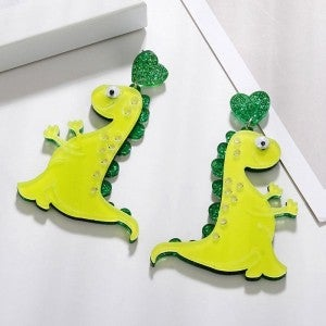 Dinosaur Acrylic Dangle Earrings