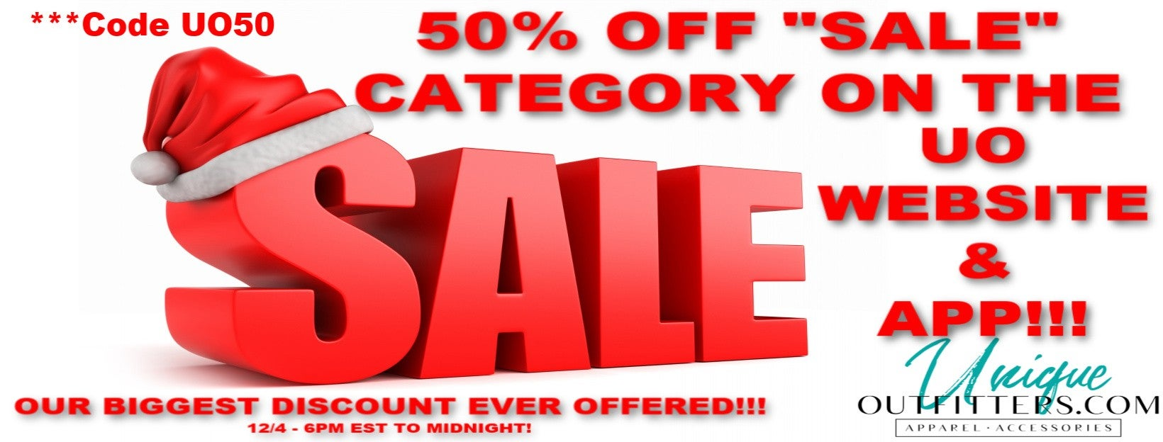 50% off sale category