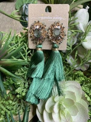 Tassel Druzy Drop Earrings