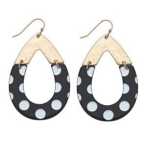 Polka Dot Hoop Earrings