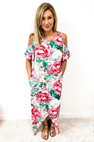 Floral Beauty High-Low Maxi