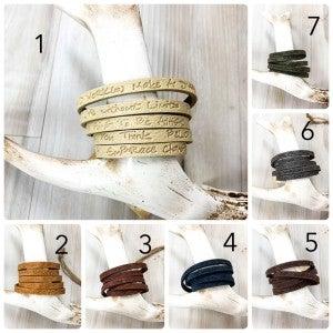 Leather Wrap Around Inspiration Bracelet