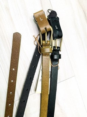 Thin Belt with Gold