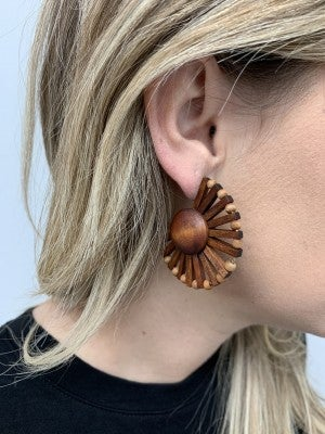 Dark Wood Earrings