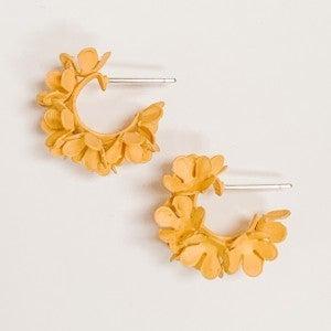 Tiny Flower Hoops