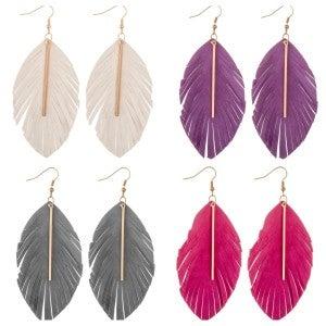 Feather Bar Earrings