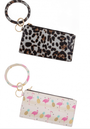 Faux Leather Wallet with Keyring