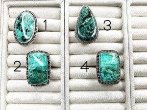 Large Azurite Ring