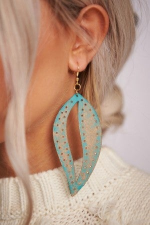 Large Faux Leather Dangles