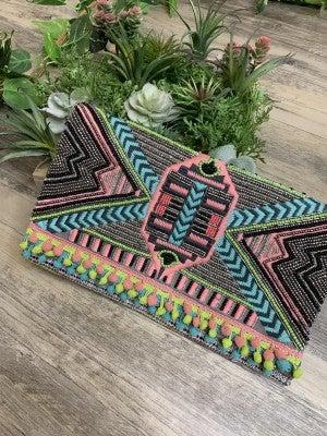 Embellished Handmade Clutch