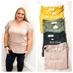 Button Sleeved Top