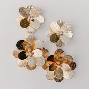 Showstopping Gold Flower Earrings