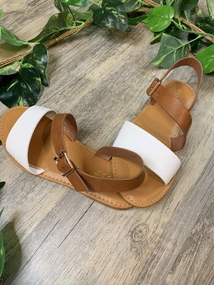 Shoreline Tan and cream sandal *Final Sale*