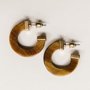 Acrylic Tiny Circle Earrings
