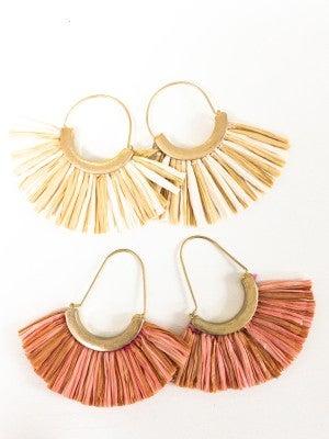 Wide Tassel Earrings
