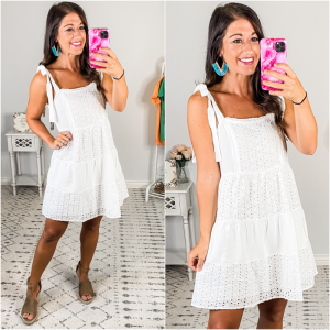 {White Tiered Sundress} *Final Sale*