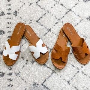 {Cut Out Strap Sandals}