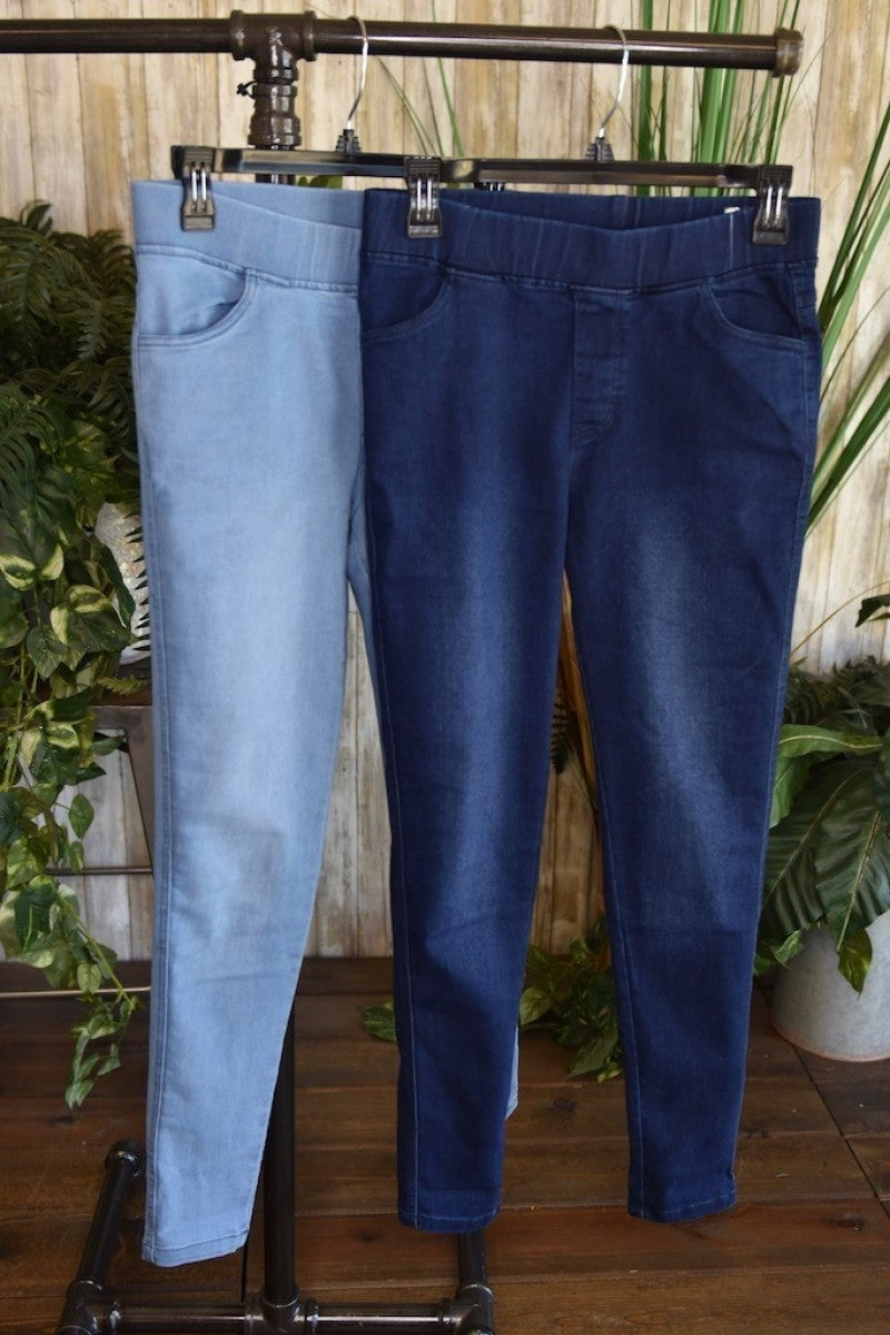*FINAL SALE*  Dark Wash Denim Jeggings