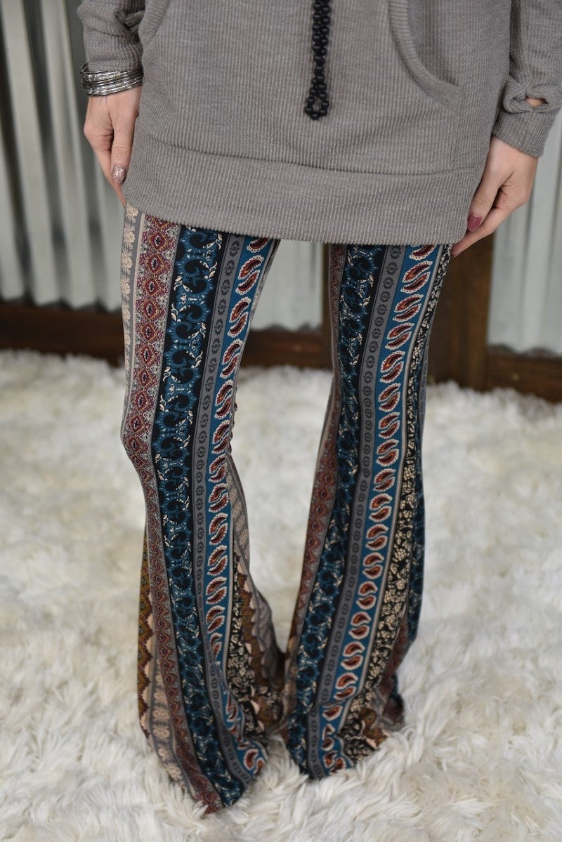 Multi Bell Bottom Leggings