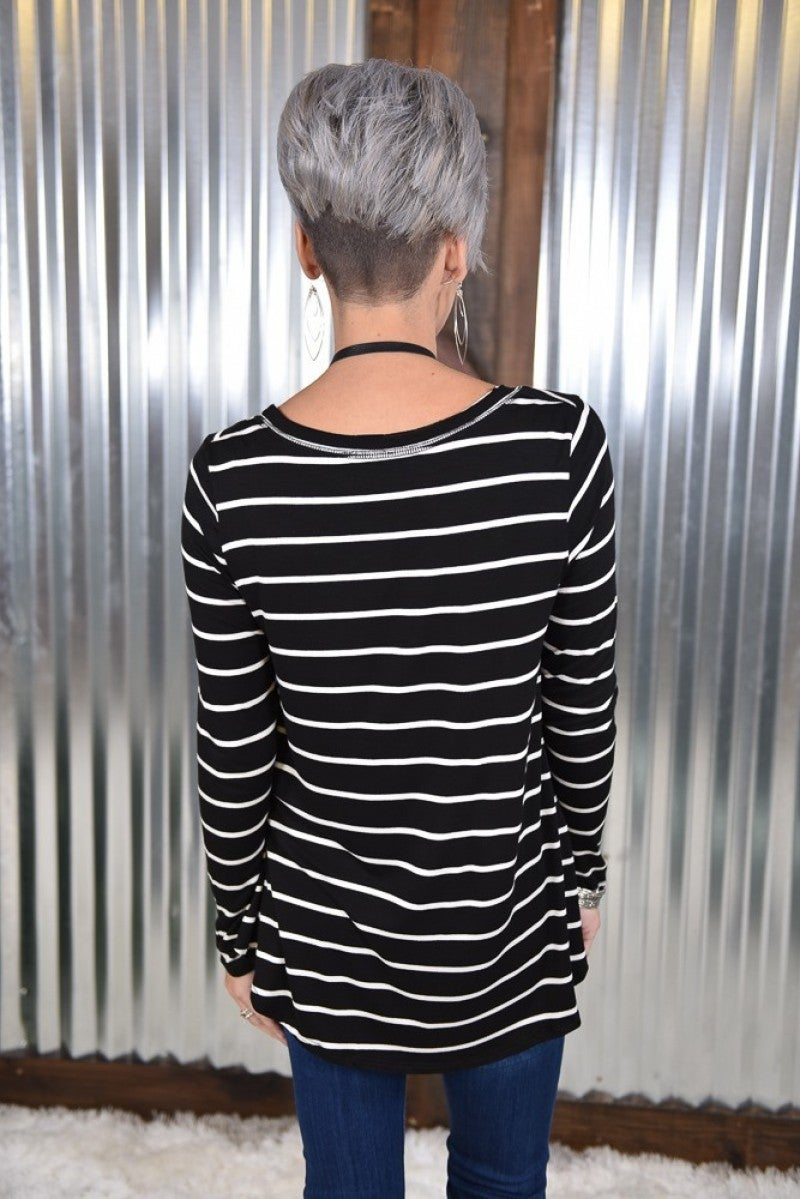 Aurora Striped L/S Top