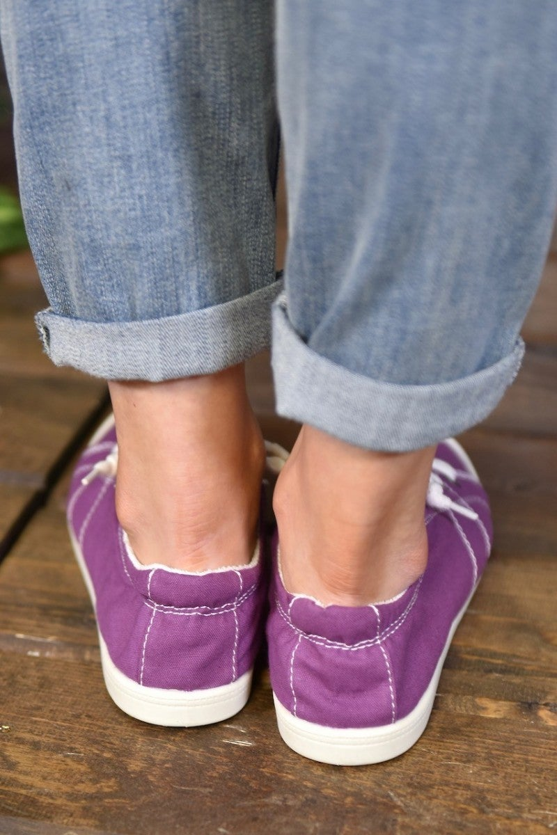 Purple Canvas Sneakers