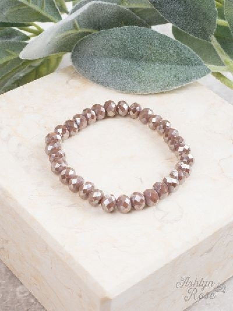 Dark Iridescent Mocha Essential Stretch Bracelet