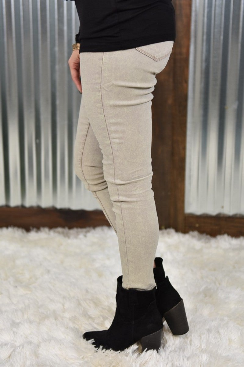 Sand Acid Hyperstretch Skinny Pants
